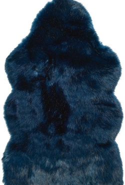 Kožušinový koberec 99025 Midnight Wolf
